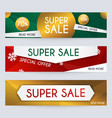 set sale xmas banners design discounts and vector image vector image
