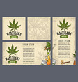 set template posters marijuanavintage color vector image vector image