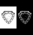 shield black and white hand drawn sketch vector image vector image