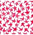 shining pink stars seamless pattern background vector image vector image