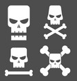 skull set for design vector image vector image