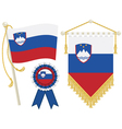 slovenia flags vector image vector image