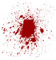 splatter red color background vector image vector image