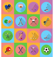 sport flat icons 19 vector image vector image