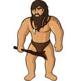 strong ancient caveman vector image vector image
