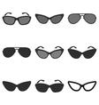 Sunglasses icon set vector image