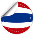 thailand flag on round sticker vector image vector image