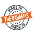 The Bahamas orange grunge ribbon stamp on white vector image vector image