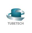 tube technology logo concept design 3d three vector image vector image