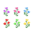 Tulips flowers set vector image