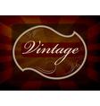 vintage label vector image vector image
