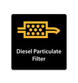 warning dashboard car icon diesel particulate vector image vector image