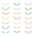 Wedding vintage elements collection vector image