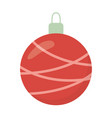white background with striped ball merry christmas vector image