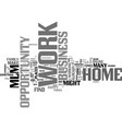 work at home business opportunity mlm text word vector image vector image