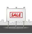 urban advertising banner on a city background vector image