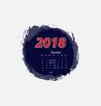 december 2018 calendar templates vector image