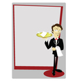 Funny Sommelier with copy space vector image