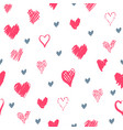 romantic pattern with hearts vector image
