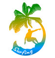 abstract logo of surfing vector image