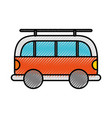 scribble car cartoon vector image