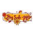 90 discount autumn big sale vector image vector image