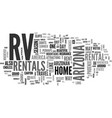 a guide to arizona rv rentals text word cloud vector image vector image