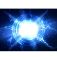Abstract blue lightning science background vector image vector image