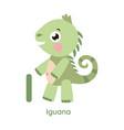 alphabet letter i iguana