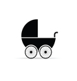 baby stroller in black vector image vector image