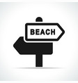 beach sign black icon vector image