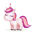 beautiful dreaming fairytail magic animal cute vector image