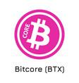bitcore btx crypto coin ic vector image vector image