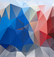 blue red gray polygon triangular pattern vector image vector image