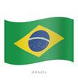 brazil waving flag icon vector image