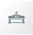 bridge icon line symbol premium quality isolated vector image