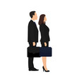 businessman businesswoman are standing together vector image vector image
