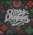 chalk drawing typography christmas card design vector image vector image