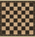 chess wooden board vector image vector image