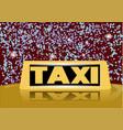 christmas taxi vector image vector image
