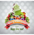 Christmas with magic tree vector image