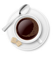 Coffee with sugar on white background for design vector image