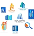 collection real estate icons and elements vector image