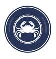 crab animal sea emblem