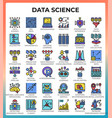 data science icons vector image