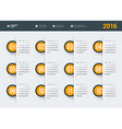 Design Print Template Poster Calendar for 2016 vector image vector image