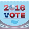 Digital vote usa election 2016 vector image vector image