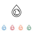 earth planet in water drop icon vector image