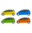 electric vehicle or hybrid car electromobility e vector image vector image