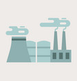 factory building flat style industrial vector image
